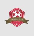 Soccer Football Badge and ribbon vector image