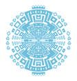circular decorative geometric ethnic pattern