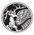 a druidic astronomical symbol of a deer vector image