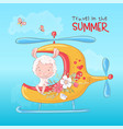 a print for children s room vector image