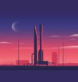 a rocket spaceship vector image