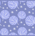 alaska sketch winter seamless pattern vector image