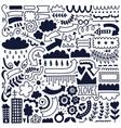 black doodles vector image vector image