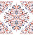 blue and orange antique floral vector image vector image