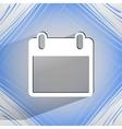 Calendar Flat modern web design on a flat vector image vector image