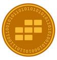 Calendar grid digital coin vector image