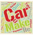 Car Loans Take Your Pick text background wordcloud vector image vector image