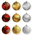 Christmas Bauble Collection vector image vector image