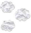 Clouds From Crushed Paper vector image vector image