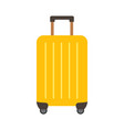colored travel suitcases isolated on white vector image