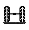 contour cute tires car style design vector image vector image