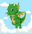cute dragon fly vector image vector image