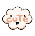 cute speech bubble colorful emotional icon vector image vector image