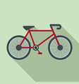 delivery bike icon flat style vector image