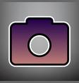digital camera sign violet gradient icon vector image