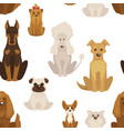 Dog types and breeds canine animals seamless