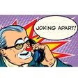 evil clown boss joking apart vector image