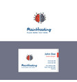 flat brain processor logo and visiting card vector image vector image