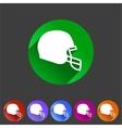football helmet flat icon sign symbol logo label vector image vector image