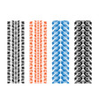 four tires season silhouettes background vector image vector image