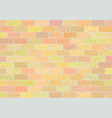 fragment of brick walls in different shades vector image vector image