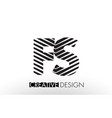 fs f s lines letter design with creative elegant vector image vector image