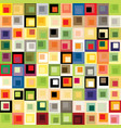 geometric seamless patterns a pattern composed of vector image vector image