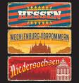 germany hessen mecklenburg niedersachsen signs vector image vector image