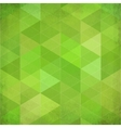 Green vintage triangles background vector image vector image