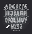 hand drawn letters writing on black school vector image vector image
