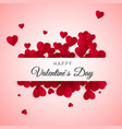 happy valentines day greeting card label with vector image vector image