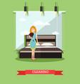 hotel housekeeping in flat vector image