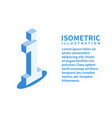 information icon isometric template in flat 3d vector image