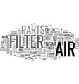 is your air filter filthy text background word vector image vector image