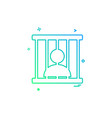jail prison locked icon design vector image