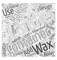 Making Container Candles Word Cloud Concept vector image vector image