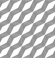 Monochrome seamless zigzag line pattern vector image vector image