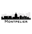 Montpelier silhouette vector image vector image