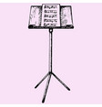 music sheets on stand vector image
