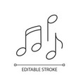 musical pixel perfect linear icon vector image