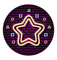 neon star geometric shapes neon wall vector image