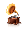 object gramophone vector image vector image