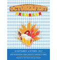 octoberfest oktoberfest promotional poster vector image vector image
