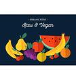 Organic fruits vegan food concept vector image vector image