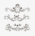 ornamental borders design vector image