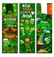 patricks day irish holiday party symbols vector image vector image