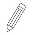 pencil thin line icon tools and design pen sign vector image vector image