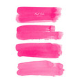 pink brush stroke watercolor on white background vector image vector image