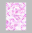 pink dot pattern brochure background - stationery vector image vector image