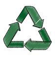 recycle reduce and reuse vector image vector image